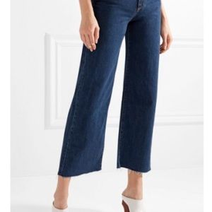 Simon Miller wide leg frayed cropped jeans